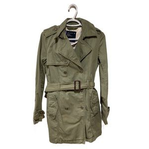 American Eagle Green Trench - Women's Size Small